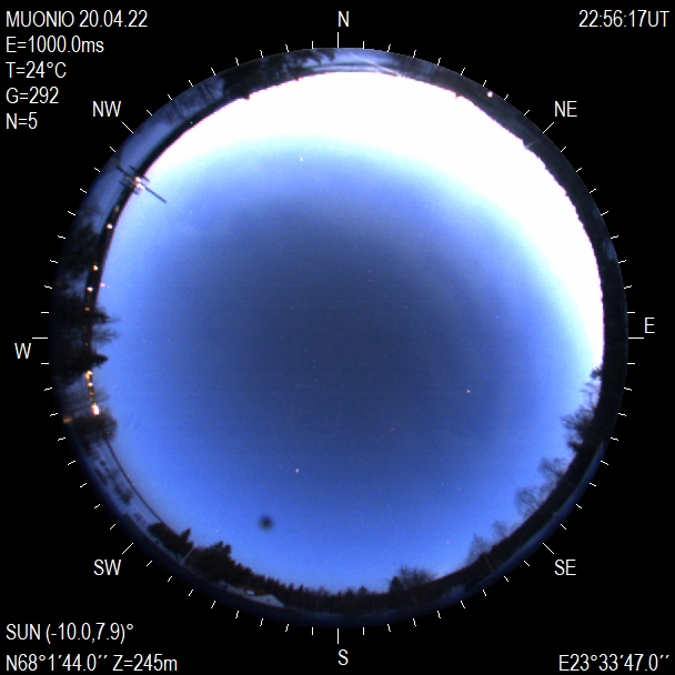 Northern Lights sky camera Muonio, Finland